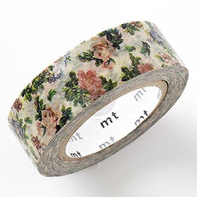 mt ex Japan elegant Botanical Floral Design washi paper Masking Tape 15mm x 10m