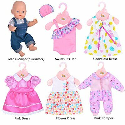 6 Sets Doll Clothes Outfits For 14 To 16 Inch New Born Baby Dolls Best