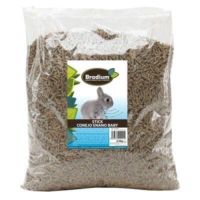Saco de 15Kg de Sticks Conejo Enano Baby Pellets Alimento Completo segunda mano  Monte Pedreguer