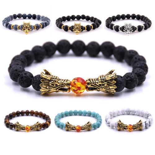 Viking Armband Drache Armreif Wikinger Armspange Folkloreschmuck Herren Perlen