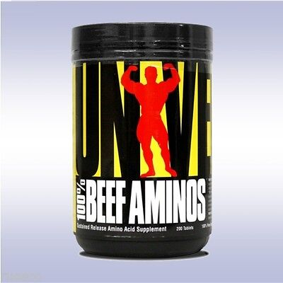 UNIVERSAL NUTRITION 100% BEEF AMINOS (200 TABLETS) amino acids protein isolate