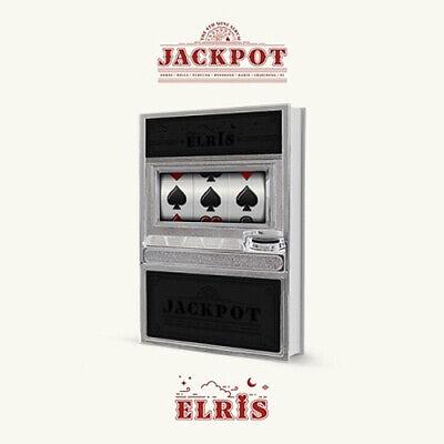 ELRIS [JACKPOT] 4th Mini Album BLACK CD+POSTER+Book+Lenticular+28p Card+Sticker