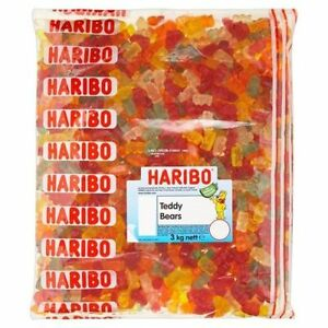 3kg Haribo Teddy Bears Goldbears Gummy Fruity Retro Party Sweets Candy £14.99