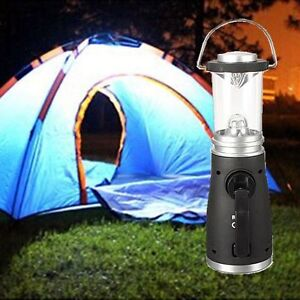 Wind up camping lamp