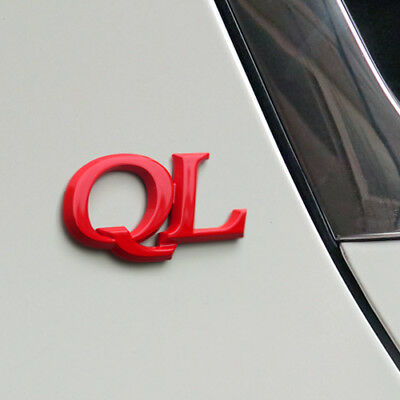 3D QL Logo Point Emblem Rose Red Type Front Trunk Badge (Fits: KIA Sportage)