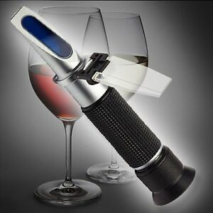 ALKOHOL REFRAKTOMETER 0-80 Vol% WINZER KELLEREI SEKT BRENEREI R01