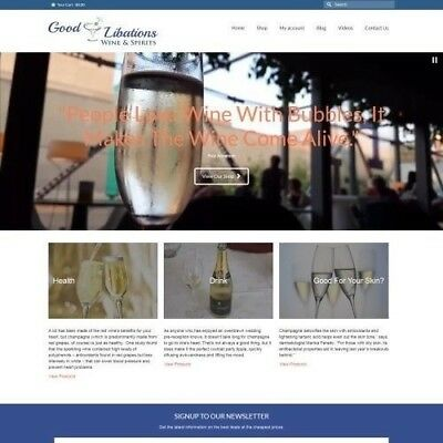 Sparkling Wine Website Business For Sale - Work From Home Domain Hosting