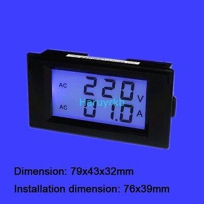 Digital Ac 300a 100a Panel Volt Amp Meter Current Transformer Shunt 110v 220v