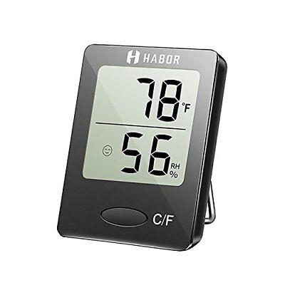 Habor Mini Portable Humedad Monitor Fast Digital Higrometro De Interior Al (National Habor)