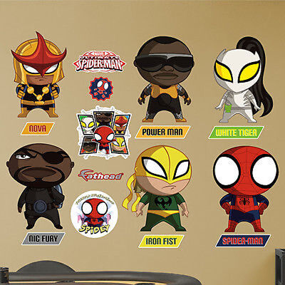 Ultimate Spider-Man Mini Team Collection Fathead Marvel Wall Decor New 96-96120