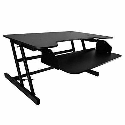 Pyle PDRIS06 Adjustable Sit & Stand Desk, Universal Computer Laptop Workstation