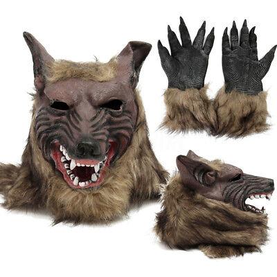 Werwolf Maske für Halloween & Karneval - Werwolfmaske Latex Tier Wolf Kostüm PL