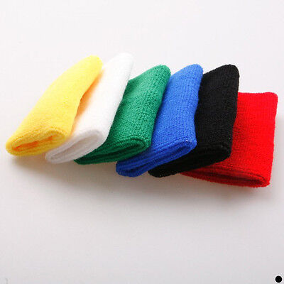 Multi-color Sports Basketball Tennis Sweatband Wristband Wrist Sweat Band New