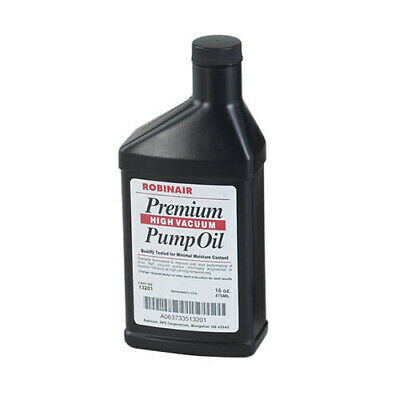 Robinair 13119 16 Oz Bottle Of Premium High Vacuum Pump Oil