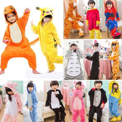 Children Animal Costumes (Kids Costume Fancy Dress Cosplay Onsie10 Child Unisex Hooded Animal Pajamas)