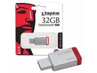 Kingston Data Traveler DT50 USB 3.0 Flash Drive Memory Sticks 32GB