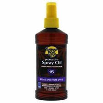 Banana Boat Broad Spectrum SPF 15 Protection Sunscreen Spray Oil 8oz 8 Ounce Banana Boat