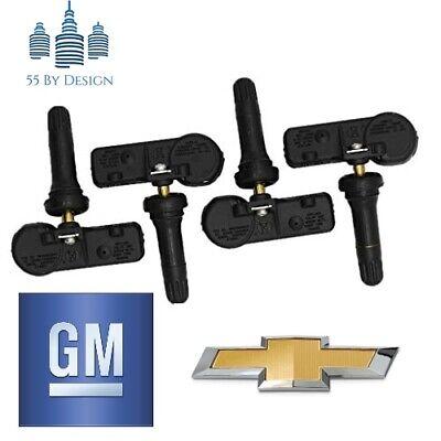 COMPLETE SET OF 4 GENUINE OEM CHEVY SILVERADO TPMS Tire Pressure Sensors Kit GMC