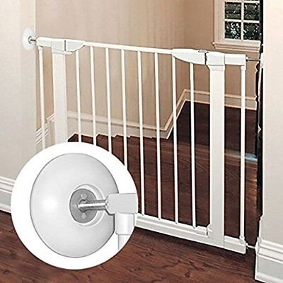 Wall Protector Baby Gate Indoor Dog Pet Child Walk ThruPressure Gates Guard Pads