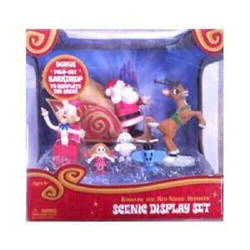 Rudolph The Red-Nosed Reindeer Scenic Display Set Brand New Sealed in Packaging