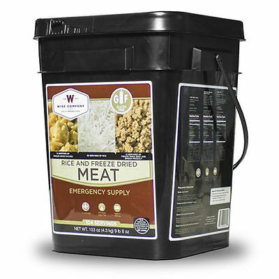 Wise Food 104 Serving GLUTEN FREE Meat and Rice Bucket, Camping, Survival