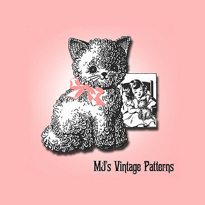 - Vintage 1940s Crochet Kitten Kitty Stuffed Animal Pattern