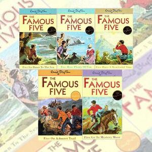 Enid Blytons Famous Five Series 5 Books Set 11-15 Age 7+
