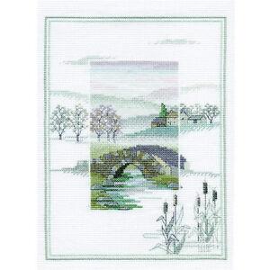 Derwentwater Designs Winter Bridge Cross Stitch Kit