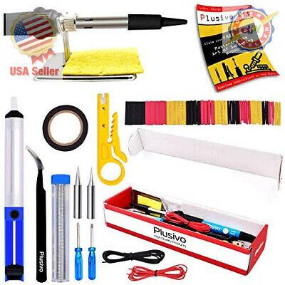Soldering Iron Kit Electrical Welding Tool Gun Set Solder Station 60w 110v ....
