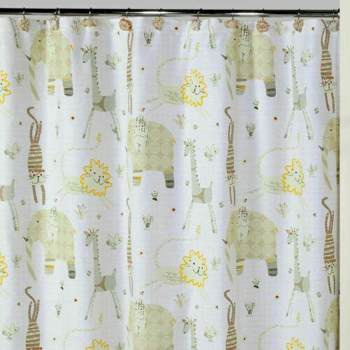 "Creative Bath Animal Crackers 72"" x 72"" Cotton Shower Curtai"