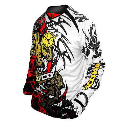 NEW Motorcycle Motocross MX BMX Shirts BIKE JERSEY S M L XL XXL Black Blue Red