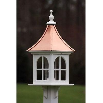 FANCY HOME PRODUCTS SQUARE BIRD FEEDER WITH WINDOWS BRIGHT COPPER 12