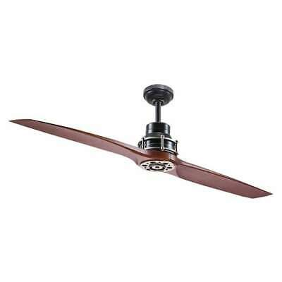 Ceiling Fan 56-in Satin Black Antique Pewter Indoor Downrod Mount Remote -