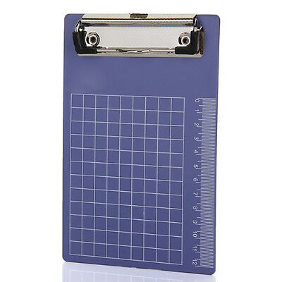 Pad Clip Holder Folder Plastic Clipboard Blue For Paper A6 Lw