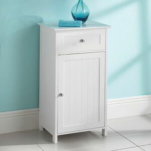 wood free standing cupboard with a drawer bathroom furnitue cabinet