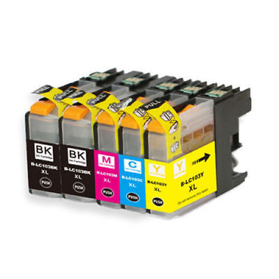5-Pack 5Pk LC103 XL Ink Cartridge Set For Brother MFC-J870DW MFC-J875DW