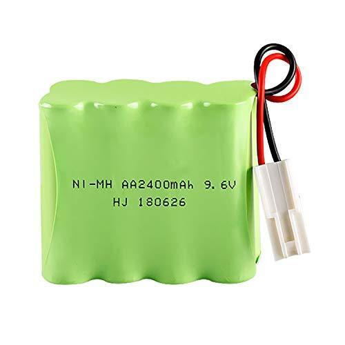 9.6V 2400mAh Rechargeable Ni-MH AA Battery Pack With EL 2P Plug For RC Toys