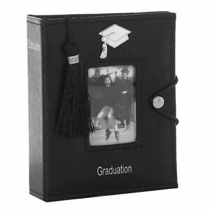 Black Graduation Photo Picture Album with Tassel