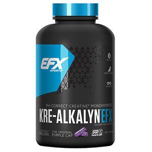 EFX Sports Kre-Alkalyn - 100% pH-Correct Creatine Monohydrate (240 Capsules)