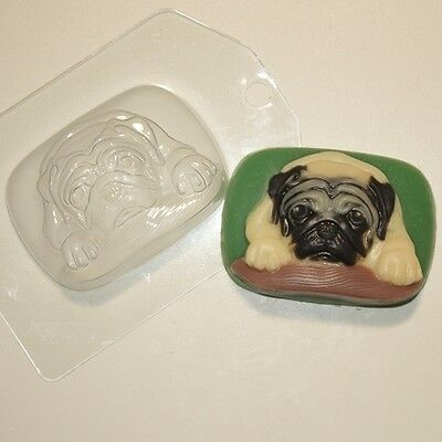 """Pug"" dog plastic soap mold soap making mold mould"