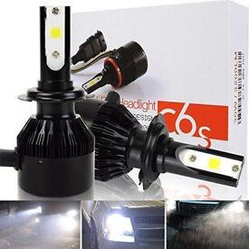 2 x C6S H7 LED HEADLIGHT 60w SMD COB HIGHPOWER BULBS SPOT FOGLIGHT 6500k LAMPS
