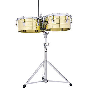 """LP Tito Puente Brass Timbales 14"""" & 15"""""""