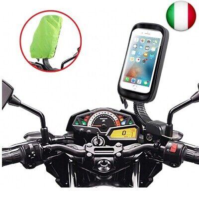 ENOENO Supporto Moto Smartphone Impermeabile 360 Gradi Supporto Cellulare (Nero)