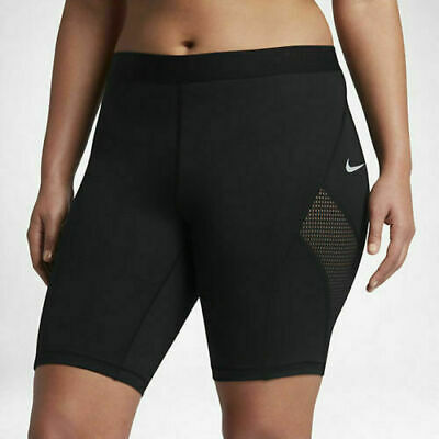 "NIKE Womens Black Pro HyperCool 8"" Sports Fitness Shorts Ladies 3XL XXXL BNWT"