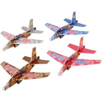 Styrofoam Glider Toy (12 Western Styrofoam Gliders Air Plane Toy Cowboy Rodeo Party Goody Bag Favor )