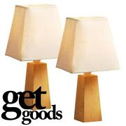 Pair Wooden Lamps