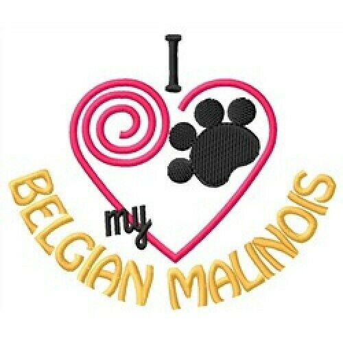 "I ""Heart"" My Belgian Malinois Short-Sleeved T-Shirt 1286-2"