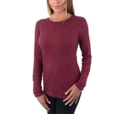 - NWT Women's Orvis Thermal Long Sleeve Printed Waffle Knit Tee Shirt Heather Wine