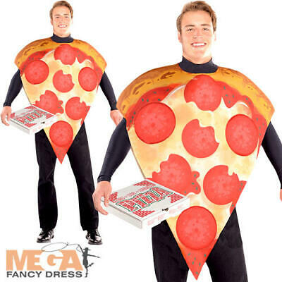 Pizza Slice Adults Fancy Dress Fun Novelty Italian Junk Food Mens Ladies (Junk Food Kostüm)