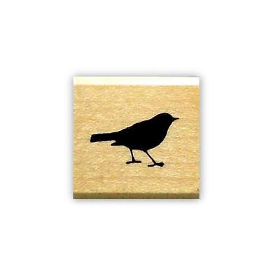 tiny BIRD SILHOUETTE mounted rubber stamp, accent stamp #9
